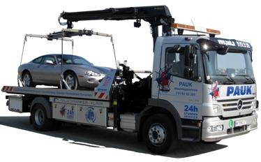 Abschleppdienst Wien Pauk - LKW für Pannehilfe und Autotransporte - 24 Stunden Service 01/9255305 - Assistance Leistungen