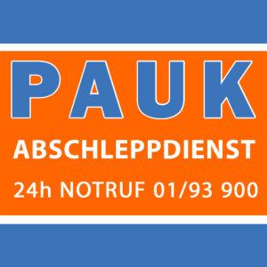 Abschleppdienst Wien PAUK GmbH Logo mit Telefonnummer